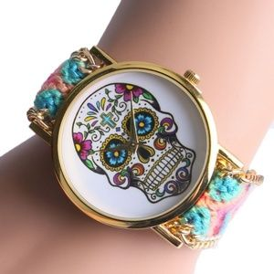 Accessories - Bohemian Boho Sugar Skull Watch Friendship